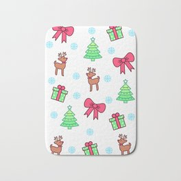 Merry Christmas Pattern Design Bath Mat