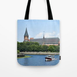 Place Fishing Village - ethnographic center and Cathedral. Kaliningrad Tote Bag