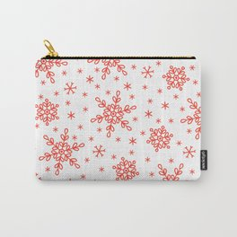 Christmas Red Snowflakes Star Pattern Carry-All Pouch