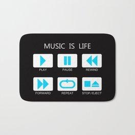 Music Is Life Bath Mat