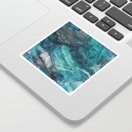 Cerulean Blue Marble Sticker