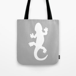 Whtie and Grey Lizard Tote Bag