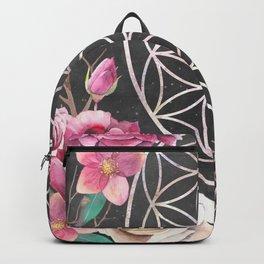Flower of Life Rose Garden Backpack