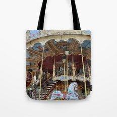 Paris Carousel Horses - Paris Merry Go Round Print - Paris Carousel Horses Home Decor Tote Bag