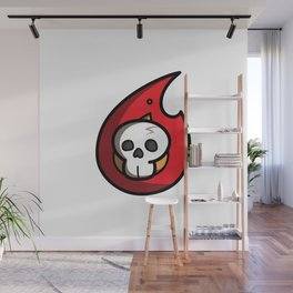 Skull on a Flame. Wall Mural