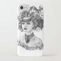 fleur de lis iPhone & iPod Cases featuring Fleur De Lis by April Alayne