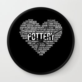 Pottery Heart Flameware Potter Clay Artist Gift Wall Clock