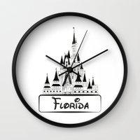 florida Wall Clocks featuring Florida by Harkiran Kalsi