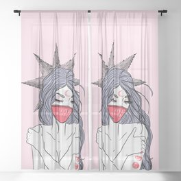 Love Yourself Girl Sheer Curtain