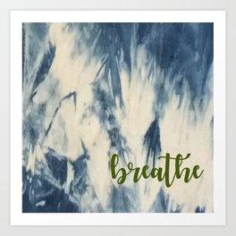 Breathe Indigo Art Print
