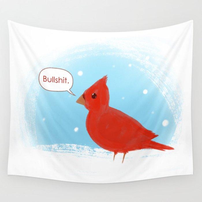 Winter Cardinal Wall Tapestry