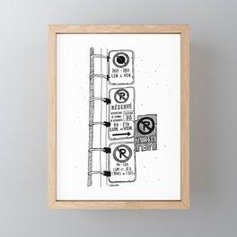 Montréal - Parking Hell - Black Framed Mini Art Print