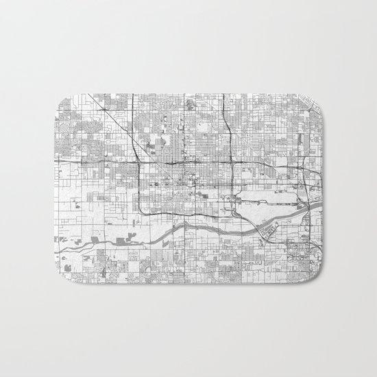 Phoenix City Map Line Bath Mat