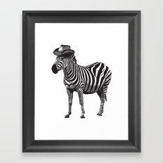 Zebra Cowboy Framed Art Print