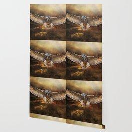 Owl Flight Wallpaper