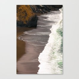 Tennessee Beach Waves Vertical Panoramic Canvas Print