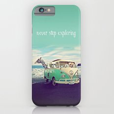 NEVER STOP EXPLORING THE BEACH Slim Case iPhone 6