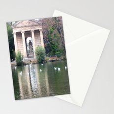 Reflection at Villa Borghese. Stationery Cards