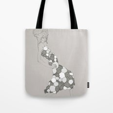 Japanese Couture Fashion Illustration Tote Bag