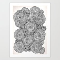 Bear Squiggles Art Print