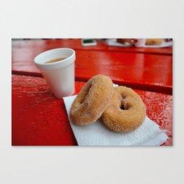 Cider & Donuts Canvas Print