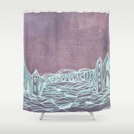 town inverted Shower Curtain
