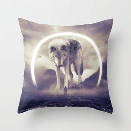 aegis II | wolf Throw Pillow