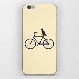 Cat Riding Bike iPhone Skin