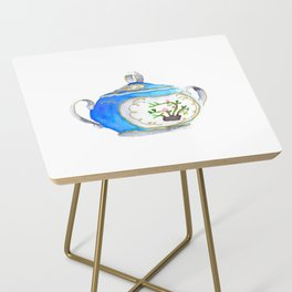 Sugar Bowl Water Color Side Table