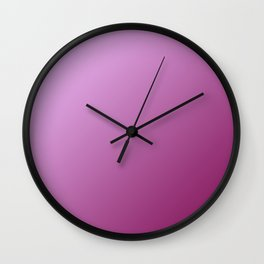 Light pink and Magenta purple Pink Gradient Wall Clock