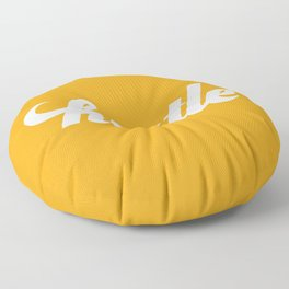 Hustle - Mustard Yellow Floor Pillow