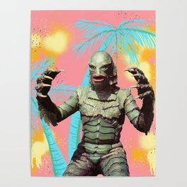 Creature of the pastel lagoon Poster