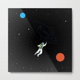 Trazos espaciales Metal Print