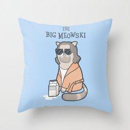 The Big Mewoski Throw Pillow