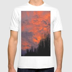 August Sunset White Mens Fitted Tee MEDIUM