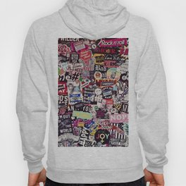 Colorful Sticker Vintage Abstract Pattern Hoody