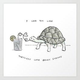 Tortoises Love This Art Print