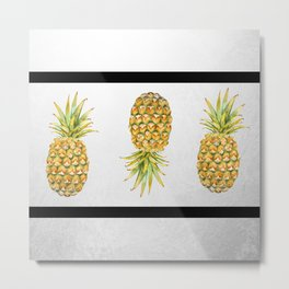 Lineapples Metal Print