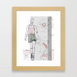 Peach me up Framed Art Print