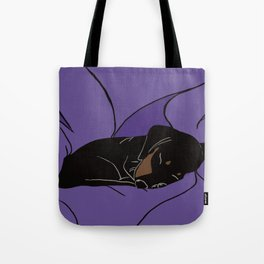 Sleeping Dachshund Puppy Tote Bag