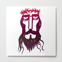 head of Jesus Christ Metal Print