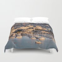 vancouver Duvet Covers featuring Vancouver Marina 1 by Susan's  Shop