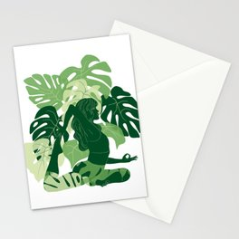 One-Legged King Pigeon Pose Stationery Cards