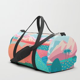 Summer Road trip to Rocky Mountains Adventures in Nature, car blue sky land airplane rural landscape Duffle Bag