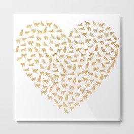 Cats Lover Heart Metal Print