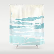 Sea waves Shower Curtain
