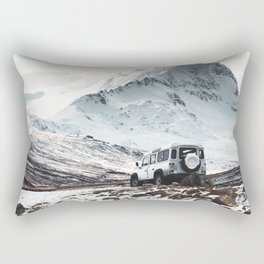 on the road in iceland Rectangular Pillow
