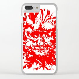 face11 red Clear iPhone Case