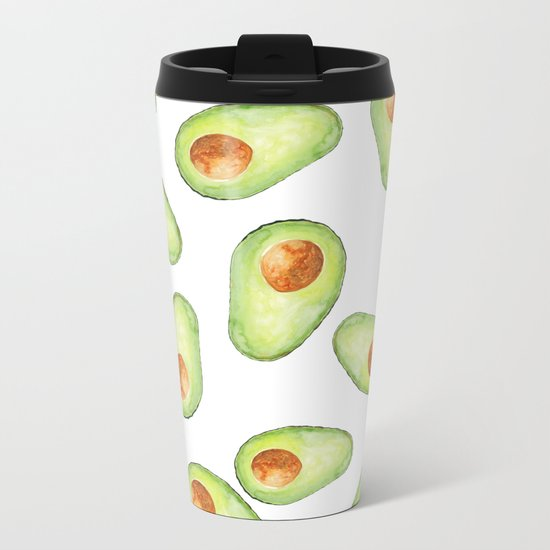 Avocado Metal Travel Mug