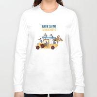 safari Long Sleeve T-shirts featuring Surfin Safari by DWatson